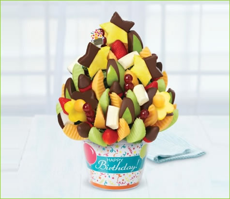 Happy Birthday Delicious Celebration with dipped Fruit Delight | Edible Arrangements®