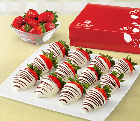 Swizzle Berries White Chocolate Box | Edible Arrangements®