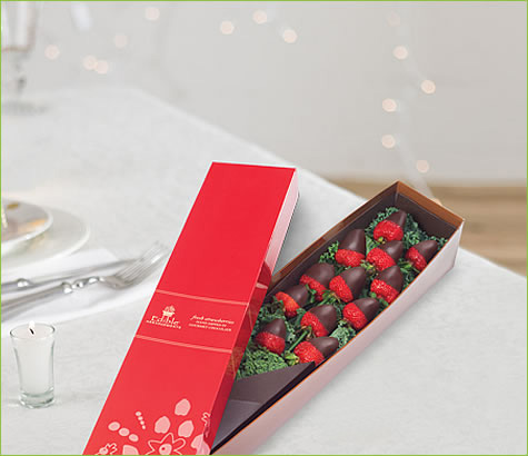 1 Dozen Berry Chocolate Roses All Dark | Edible Arrangements®