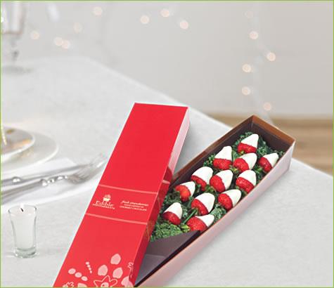 1 Dozen Berry Chocolate Roses All White   Edible Arrangements®
