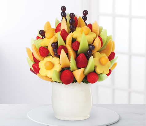 Delicious Fruit Design in White Ceramic Container | Edible Arrangements®