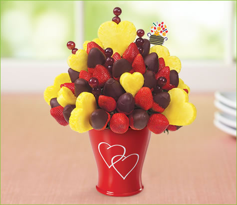 Hearts & Berries<br>Half Dipped Strawberries | Edible Arrangements®