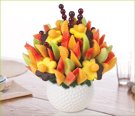 Golf Keepsake Melon Delight with Dipped Daisies | Edible Arrangements®