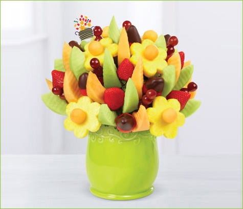Delicious Fruit Design Half Dipped Strawberries | Edible Arrangements®