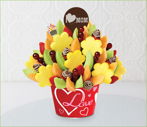 Mother's Day Swizzle Bouquet in Love Container | Edible Arrangements®