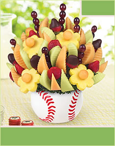 Triple Play Bouquet  Dipped Strawberries