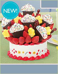 Grand Berry Confetti Cupcake