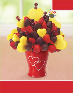 Hearts & BerriesHalf Dipped Strawberries