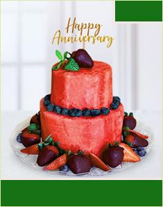 Berry Anniversary Cake