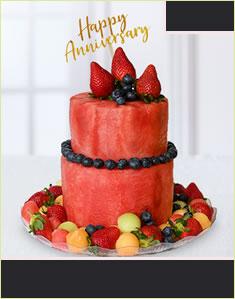 Blueberry Anniversary Cake