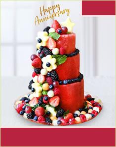 Premium Berry Anniversary Cake