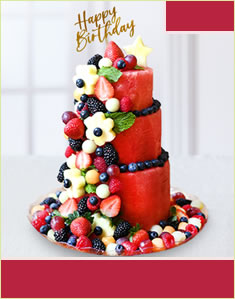 Premium Berry Birthday Cake