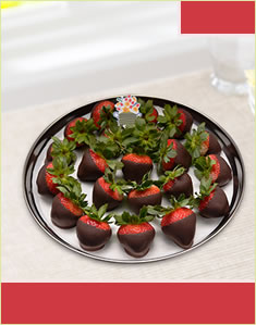Strawberry Platter Dipped in Dark chocolate