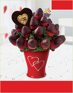 Sweetheart Bouquet - with Belgian Chocolate Pop