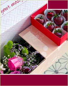 Lovely Swizzle Berries & Flowers Box