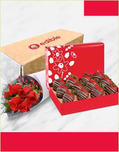 Sweetheart Swizzle Berries & Flowers Box