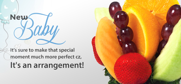 Baby Gift Edible Arrangements : New baby fruit baskets gifts and bouquets